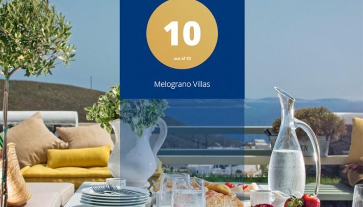 Melograno Villas: Οι επισκέπτες τους βαθμολογούν με άριστα 10